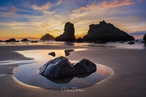 Bandon Evening Light & Face Rock ~ Oregon Coast