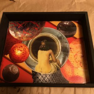 The Unknown $50.00 collage with resin