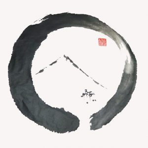 Ensō Noble, Sumi (ink) brushed on Shikishi Board
