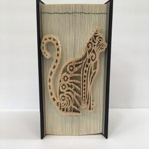 Cat Book Sculpture