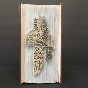 Pinecone Book Sculpture
