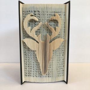 Deer Book Sculpture