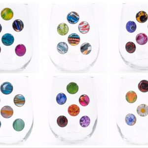 Colorful Stemless Wine Charms