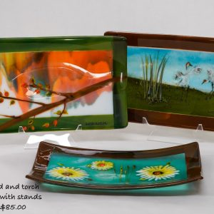 Medium Trays with stands $85.00