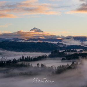 Mt Hood & Fog - Oregon